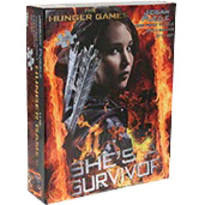 THE HUNGER GAMES - 'She's a Survivor' 1,000 Piece Jigsaw Puzzle (NECA) #NEW