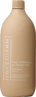 """NAKED TAN Professional 2HR 8% """"Natural"""" 1 Litre **New Packaging**"""