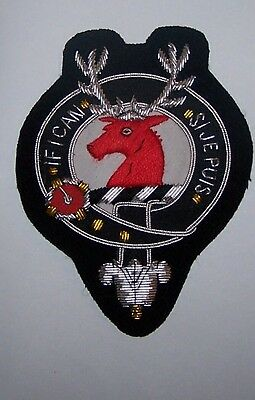 Royal Scottish Scotland Clan Colquhoun Calhoun Crest Heraldry Family Name Patch