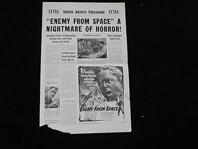 QUATERMASS 2/ENEMY FROM SPACE original 1957 pressbook BRIAN DONLEVY/VERA DAY
