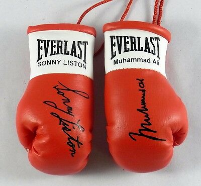 Muhammad Ali V Sonny Liston  Autographed Mini Boxing gloves  (collectable)