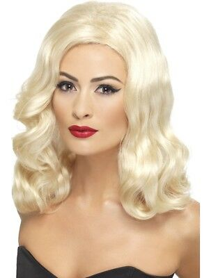 20S Luscious Flapper Wig Ladies 1920S Deluxe Blonde Fancy Dress Gatsby Wig