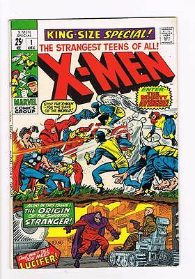 X-Men Annual # 1  Enter...the Mighty Avengers !  grade 6.5  scarce book !