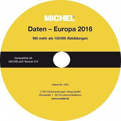 MICHEL-Daten/Update Briefmarken Europa 2015/2016 – für Soft + Album