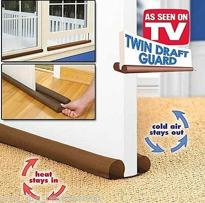 Double Sided Draft Door Draught Excluder Energy Saving Insulation Twin Guard