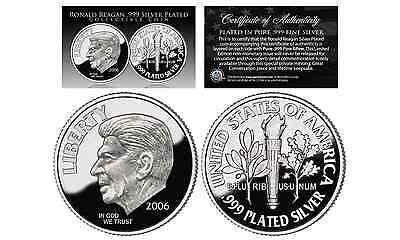 First-Ever 2006 RONALD REAGAN Tribute .999 Fine Silver Plated Commemorative DIME