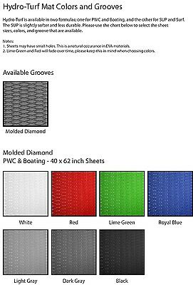 """Hydro-Turf Mat Material - Molded Diamond 40"""" x 62"""" - You Choose Color & 3m"""