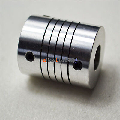 D19L25 CNC Motor 3D PrinterJaw Shaft Coupler 5mm-10mm Flexible Coupling 5x10mm