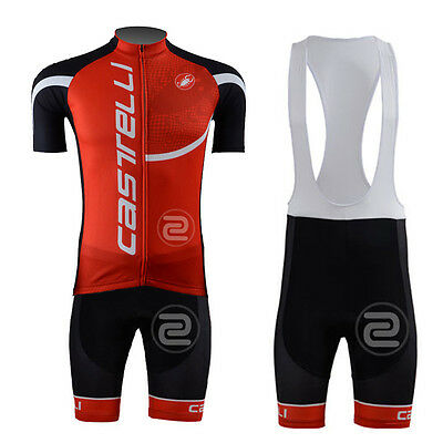 New Cycling Bike Short Sleeve Jersey Bib Shorts Suit Riding Tops Brace Pants Set