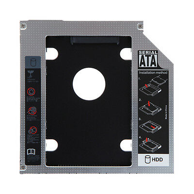 Universal 12.7mm SATA 2nd SSD HDD Hard Drive Caddy for DVD-ROM CD Optical Bay