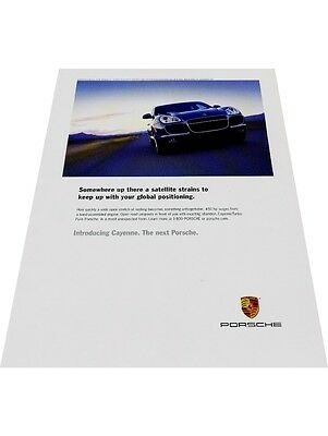 2004 2003 Porsche Cayenne -  Original Vintage Advertisement Print Car Ad J428