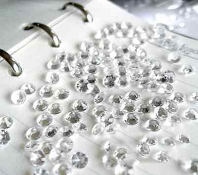 2000pcs Clear 4.5mm Wedding Party Crystal Diamond Confetti Table Scatters Decor