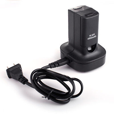Dual Battery + Charger Dock Charging Station for Microsoft Xbox 360 Controller