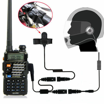 Helmet Motorcycle Race Headset Earpiece For Baofeng UV 5R 888s GT-3 2-Way Radio