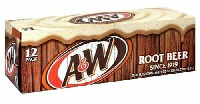"A & W ROOT BEER ""AMERICAN IMPORT SODA"" 12 cans 355ml"