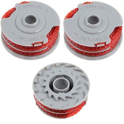 3 x Strimmer Trimmer Spool & Line For Flymo Contour 500 Power Plus 500 & 500XT