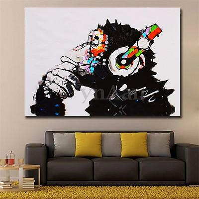 DJ MONKEY Unframed Modern Abstract Wall Art Chimp On Canvas Animal Print Picture