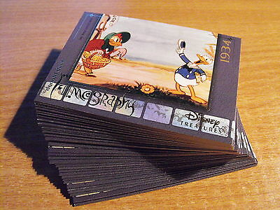Disney Treasures Series 2 Complete Set Of 45 Donald Duck Cards