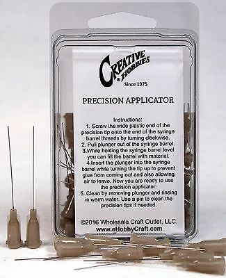 27 Gauge 1.5 Inch, Precision Applicator Dispensing Needle Tips, 50 Pieces