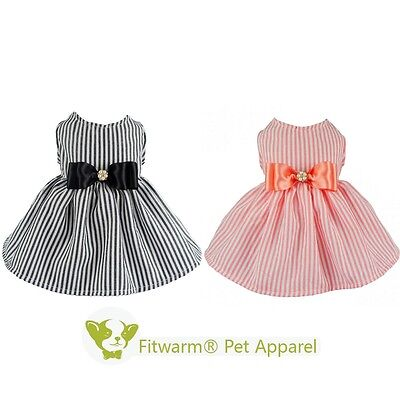 a09a0f200862 Fitwarm Wedding Dog Pink Dress Princess Pet Clothes Shirt Girl Cat Vest S M  L
