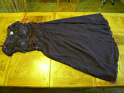 Conservative Formal Mother's Gown MAY QUEEN #571 Size 2XL NWT Eggplant Purple