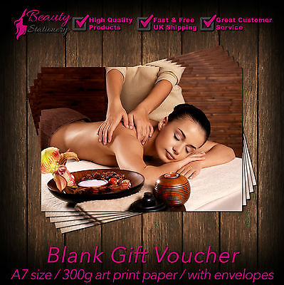 Massage Therapist Package, Gift Voucher x10+env.,Massage Client Card x50 SAVE £2