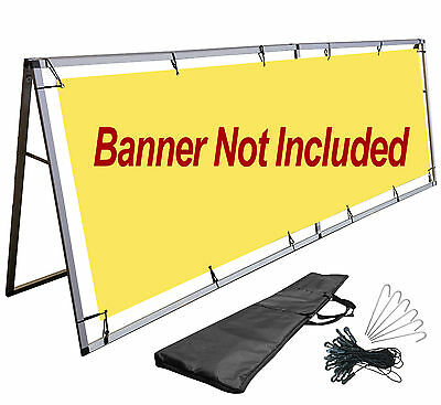A-Frame Stand 3x10 Ft Vinyl Banner Sign Holder Billboard Outdoor Display Stand