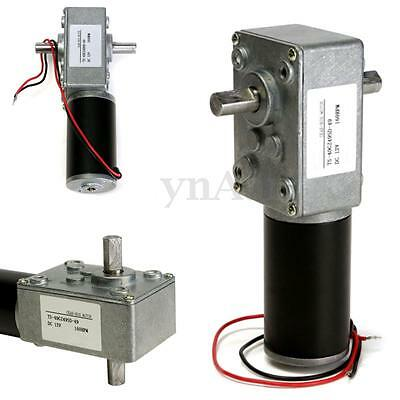 12V 160rpm DC Electric Gearbox Reduction Motor Torque Turbine Worm Double Shaft