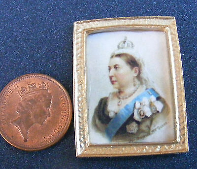 1:12 Scale Framed Picture (Print) Of Queen Victoria Dolls House Miniature Art