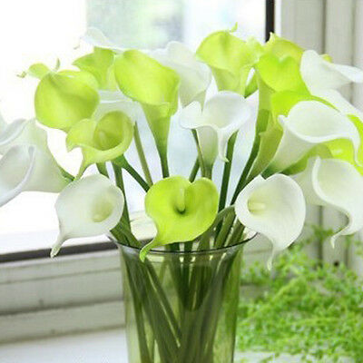 Hot Popular Artificial Calla Lily Bridal Wedding Bouquet Silk Flower Party Decor
