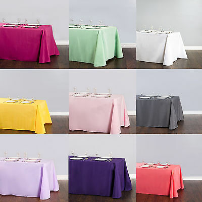 """228x335cm/90x132"""" Rectangle Satin Tablecloth Wedding Party Catering Table Cover"""