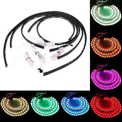 Wireless Remote RGB LED Strips under Car Neon Light Underbody Light 7 Color D5W4