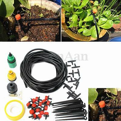 8-25M DIY Micro Drip Irrigation System Watering Kit Automatic Plant Garden new