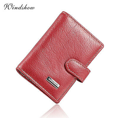 Small Genuine Leather 18 Cards Business Name ID Credit Card Holder Book Keeper