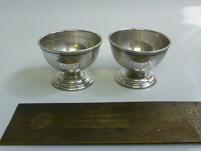 Antique Gorham Sterling Silver Pair of Salt Cellars - Circa: 1860's - 1890's