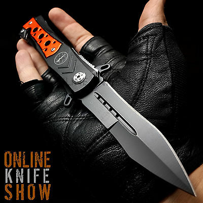 TACTICAL EMT SPRING STILETTO ASSISTED POCKET KNIFE Open Folding Spear Blade
