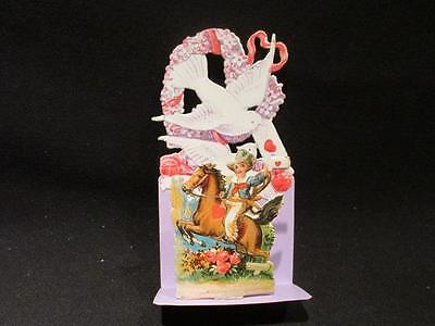 Early 1900s Diecut 3-Dimensional Valentine Greeting Card Made in Germany