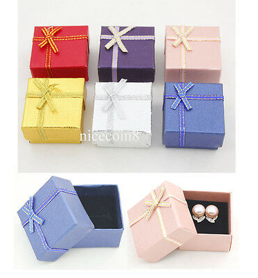 24 Empty New color Jewelry gift box for earring ring display small wholesale