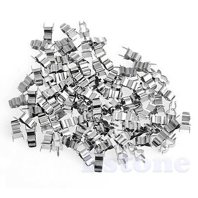 100pcs 5 x 20mm Glass Ceramic Tube Quick Fast Blow Fuse Clips Holders Hot Sell
