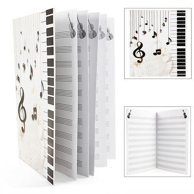 New Music Theory Sheet Manuscript Paper Stave Notebook Piano Guitar Violin