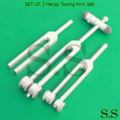 New Tuning Fork Set Of 3 C512, C256, C128 Instruments