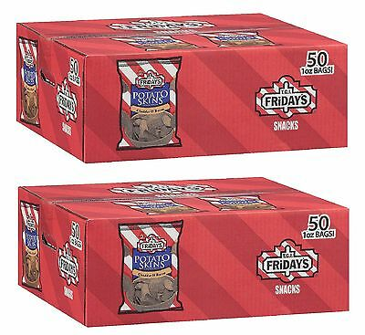 9T.G.I. Friday's Cheddar and Bacon Potato Skins Snack Chips 1 oz 50 Ct Pack of 2
