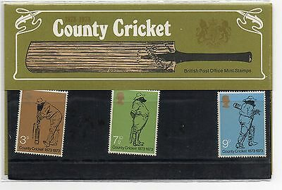 GB 1973 County Cricket Presentation Pack VGC. Stamps. Free postage!!