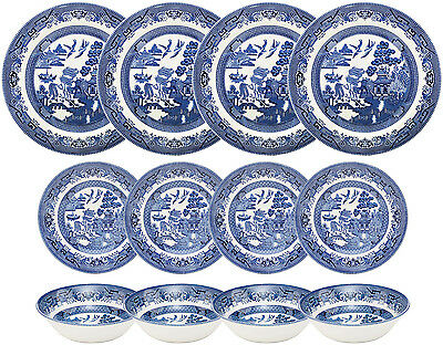 Churchill Blue Willow 12 Piece Dinner Set - New/unused