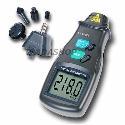 2in1 Digital LASER Photo Non-Contact Tachometer Meter 99,999 RPM Tester Measurer