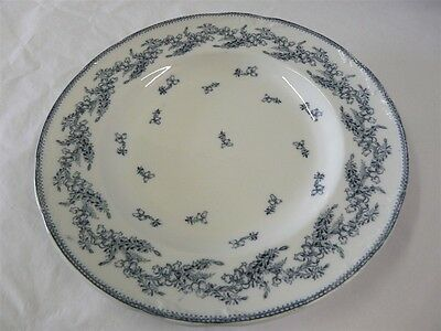 """Wedgwood Pearl China Erica Blue Pattern Dinner Plate 9-3/4"""""""