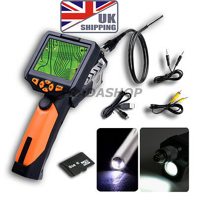 "3.5"" LCD Inspection Camera Borescope Scope Endoscope Zoom Rotate 1M 3.9mm Cable"