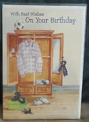 80TH BIRTHDAY CARD Male Gents 80th Birthday Card Best Wishes