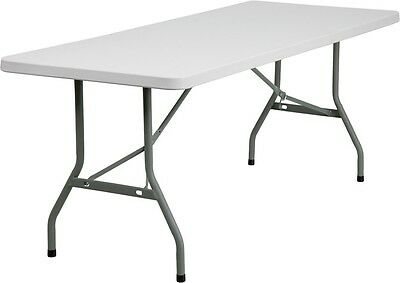 6ft Folding Banquet Catering Tables with Plastic Top