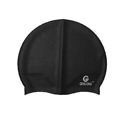 Unisex Silicone Anti-slip Flexible Aquatic Sports Swimming Hat Cap Black